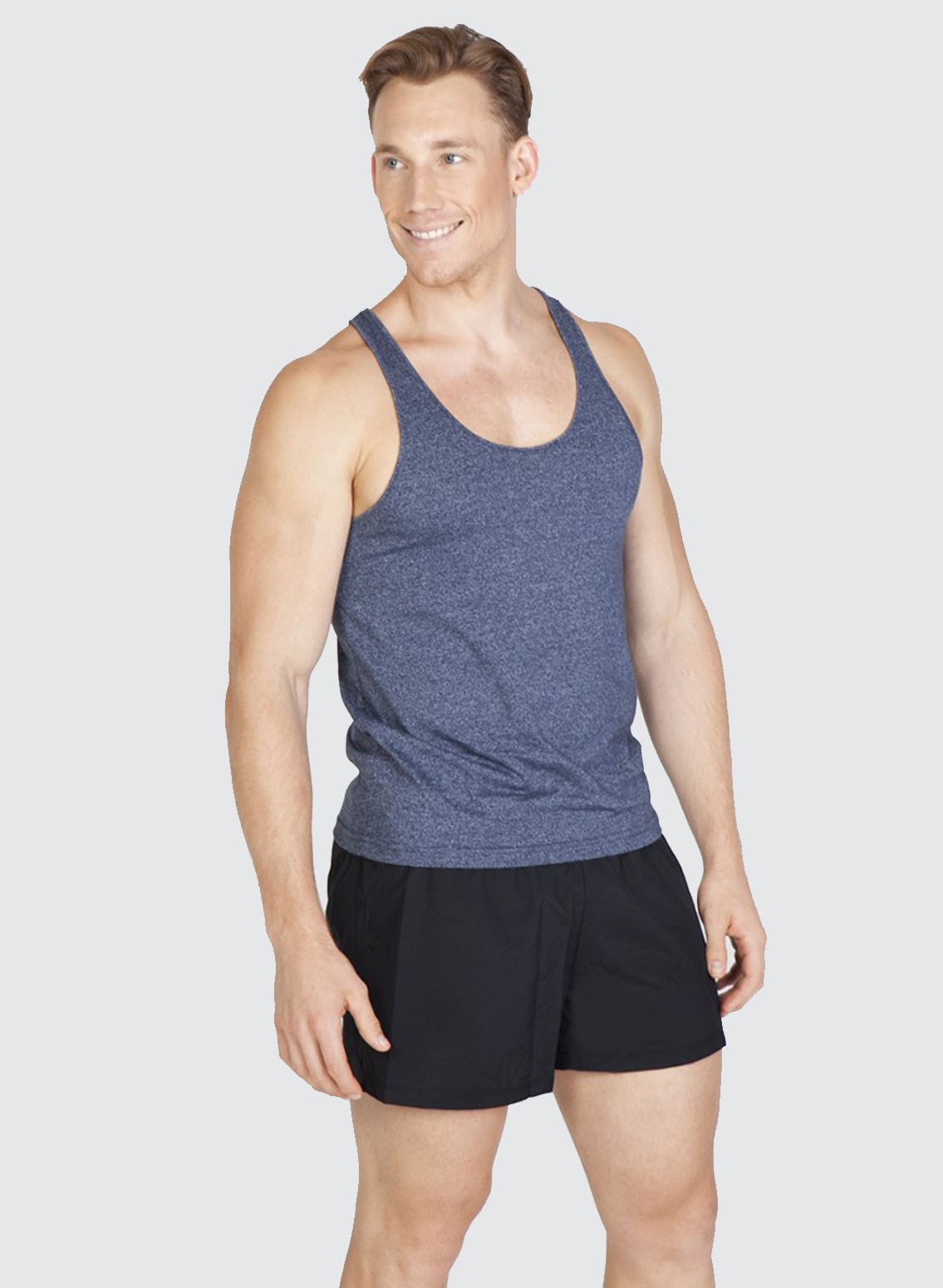 T409sg Mens Greatness Athletic T Back Singlet Business