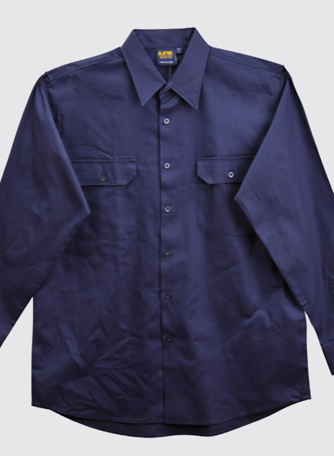 Wt04 Cotton Drill Long Sleeve Work Shirt Business Image