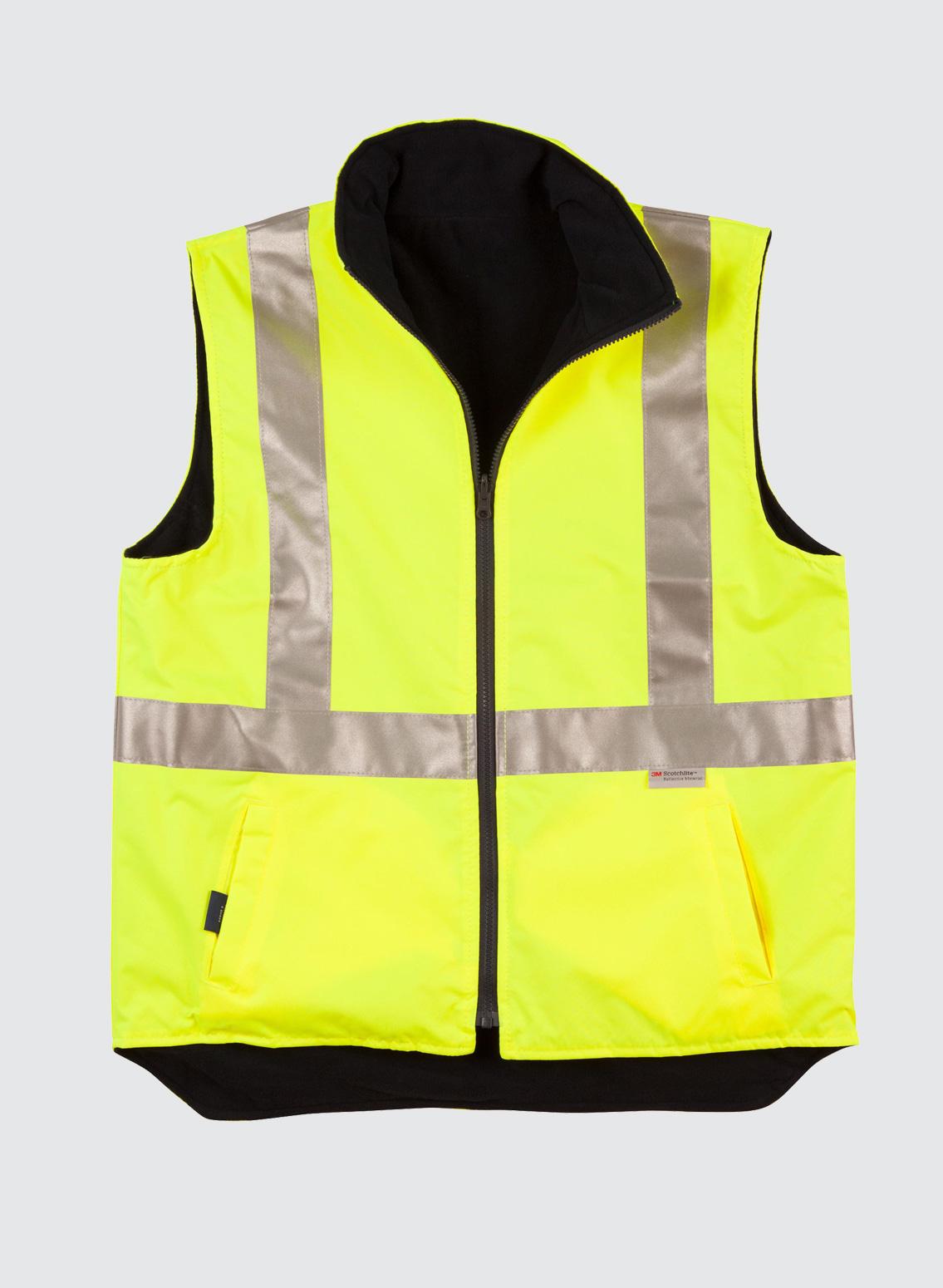 Sw19a Hi Vis Reversible Safety Vest With 3m Tapes