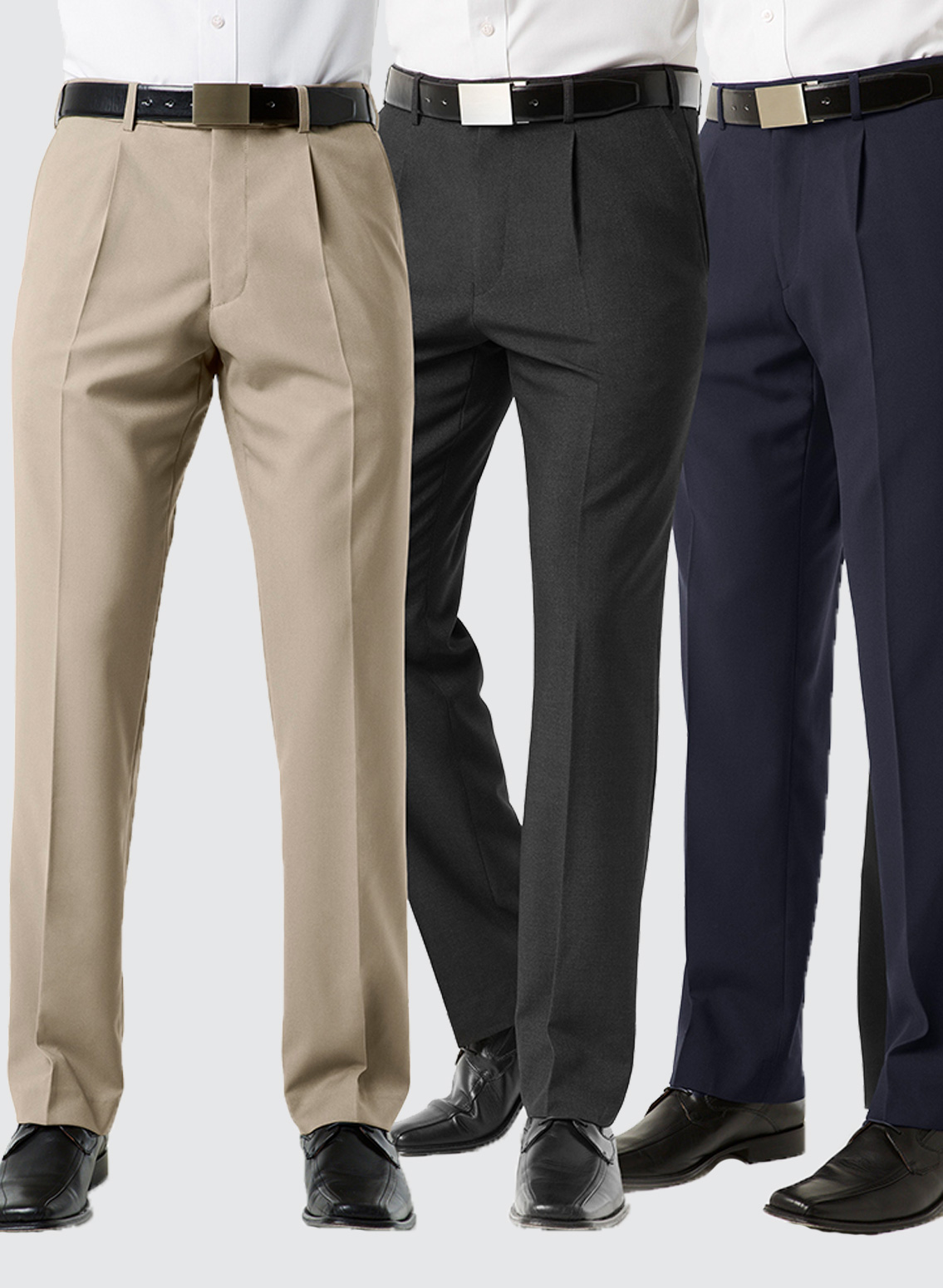 bs29110 mens classic pleat front pant business image group