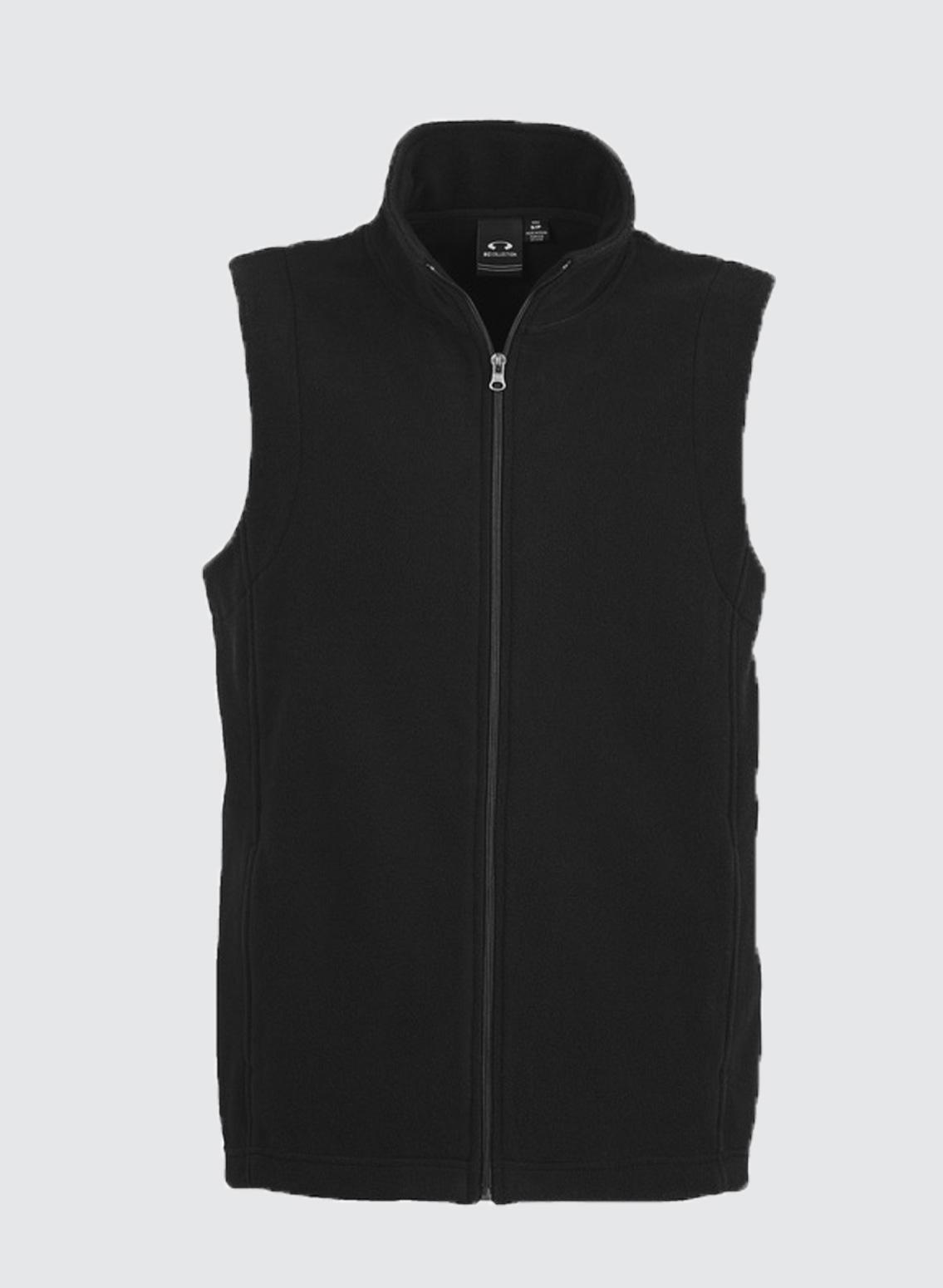 F233mn Mens Plain Micro Fleece Vest Business Image Group