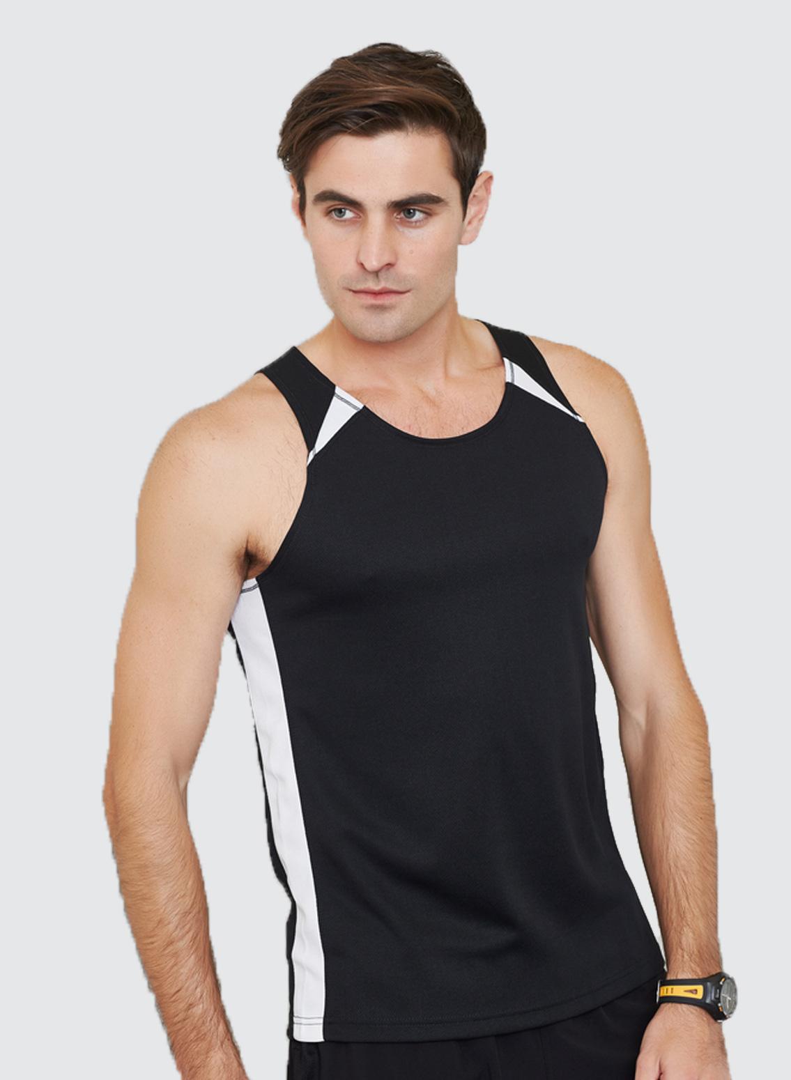 Mv903 mens splice singlet business image group for Singlet shirt for mens